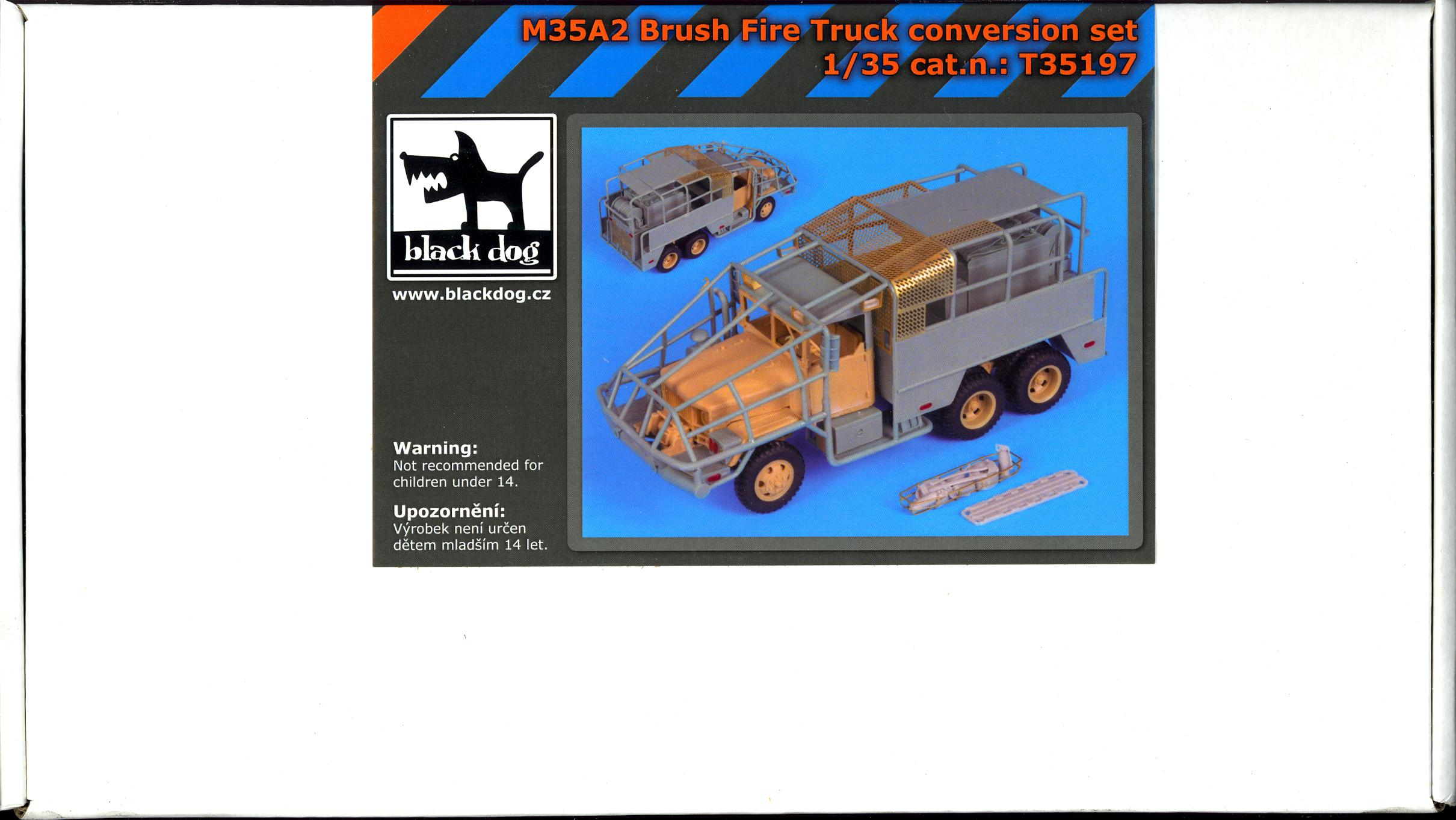 Details about Blackdog Models 1/35 M35A2 BRUSH FIRE TRUCK Resin Conversion  Kit