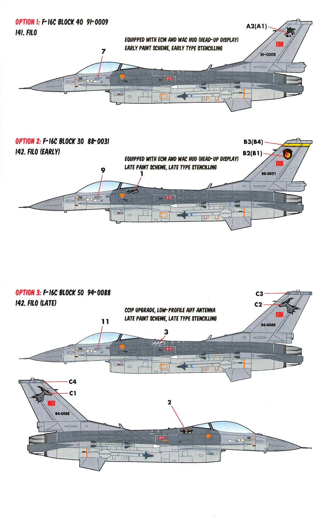 Details about Caracal Decals 1/48 GENERAL DYNAMICS F-16C/D VIPER Turkish  Air Force Part 1