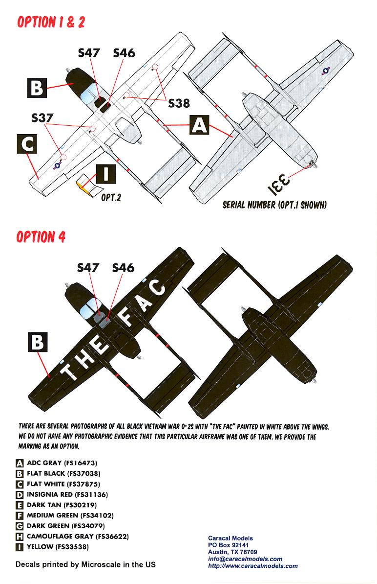 Caracal Decals 1 48 Cessna O 2 Skymaster Observation Aircraft Ebay 172 Engineering Schematics Click Image For Larger Preview