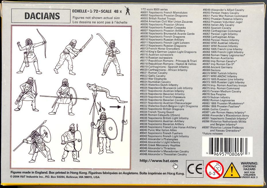 HaT Miniatures 1//72 CARTHAGINIAN SOLDIERS 67-pc Figure Set