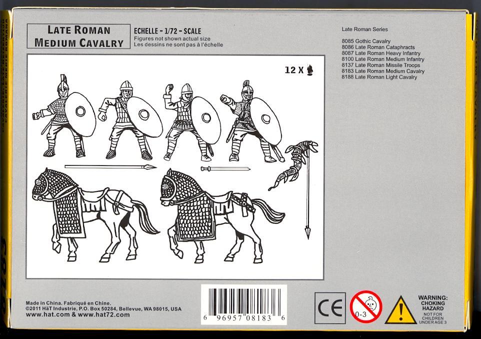 Hat 1//72 8188 Late Roman Light Cavalry