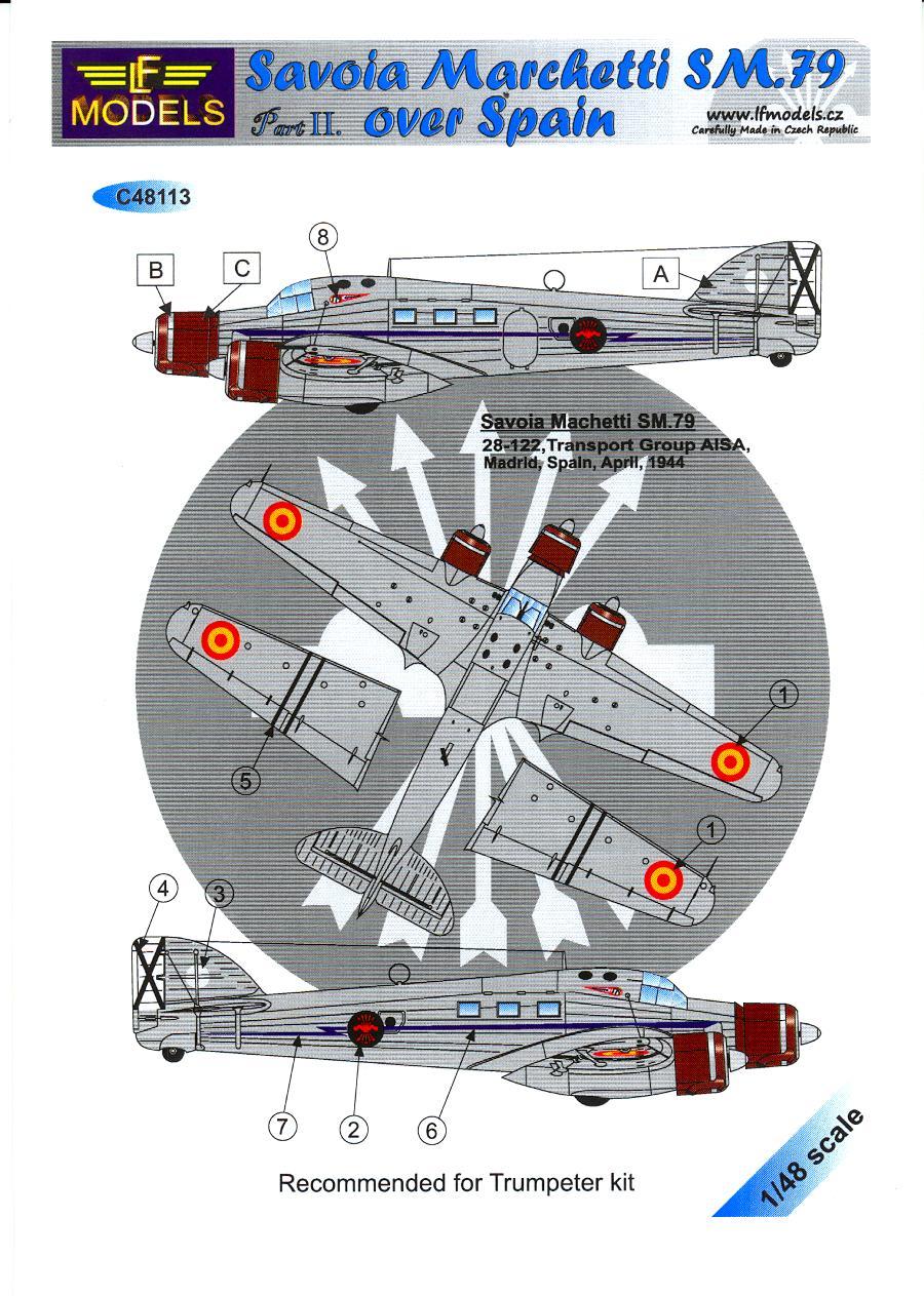 Savoia marchetti sm 79 gobba page 4 - Lf Models Decals 1 48 Savoia Marchetti Sm 79 Spanish Air Force