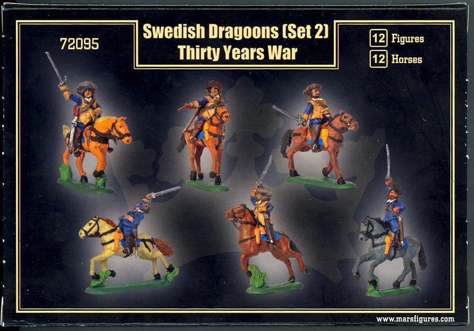 Thirty Years War Mars 72095 - 1:72 Swedish Dragoons set 2