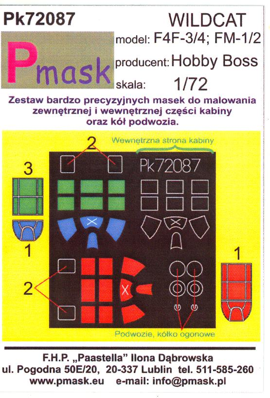Details about Model Maker 1/72 GRUMMAN F4F-3 F4F-4 & FM-1 FM-2 WILDCAT  Paint Mask Set