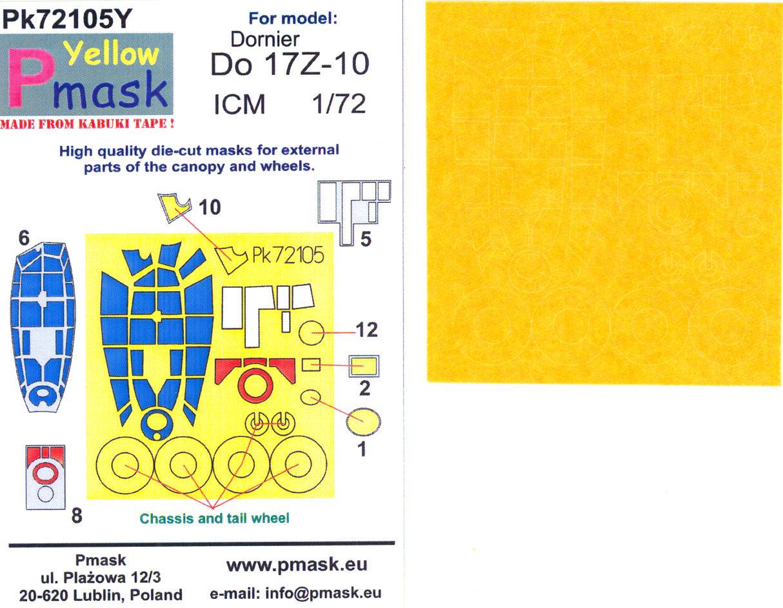 Model Maker 1//72 DORNIER Do-17z-10 Kabuki Tape Paint Mask Set for ICM Kit