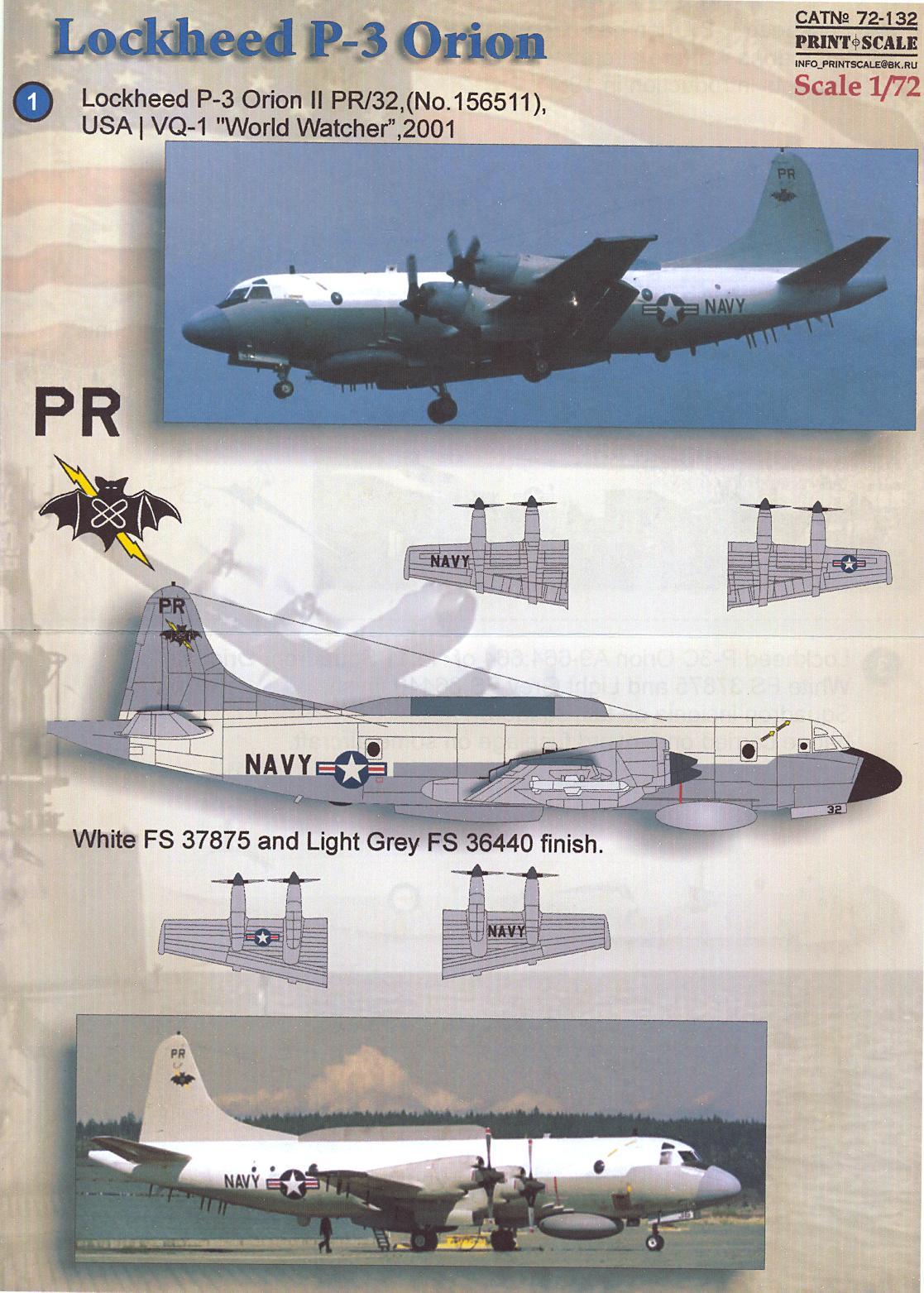 print scale decals 1 72 lockheed p 3 orion anti submarine aircraft