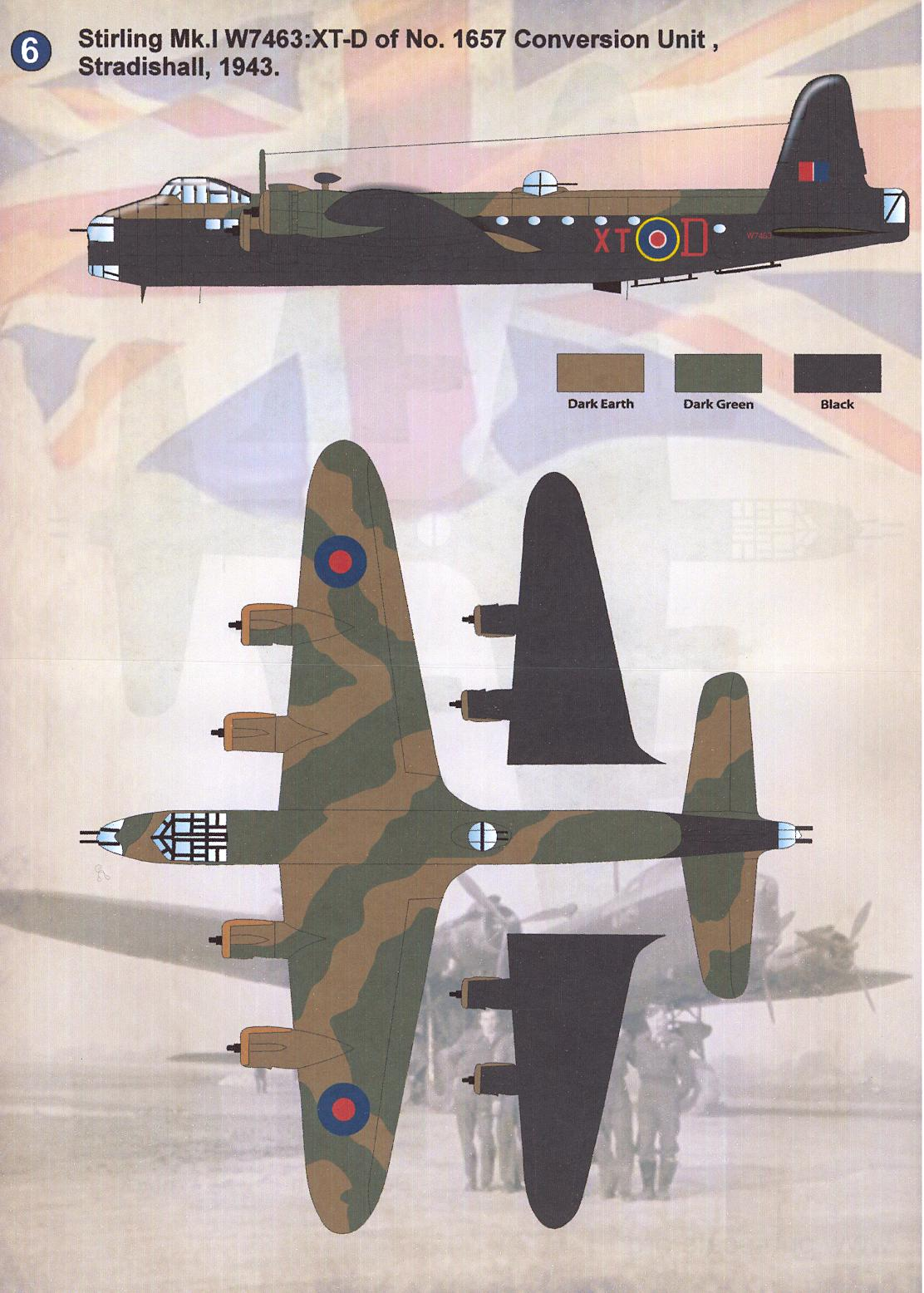 Print Scale Decals 1//72 SHORT STIRLING British WWII Bomber