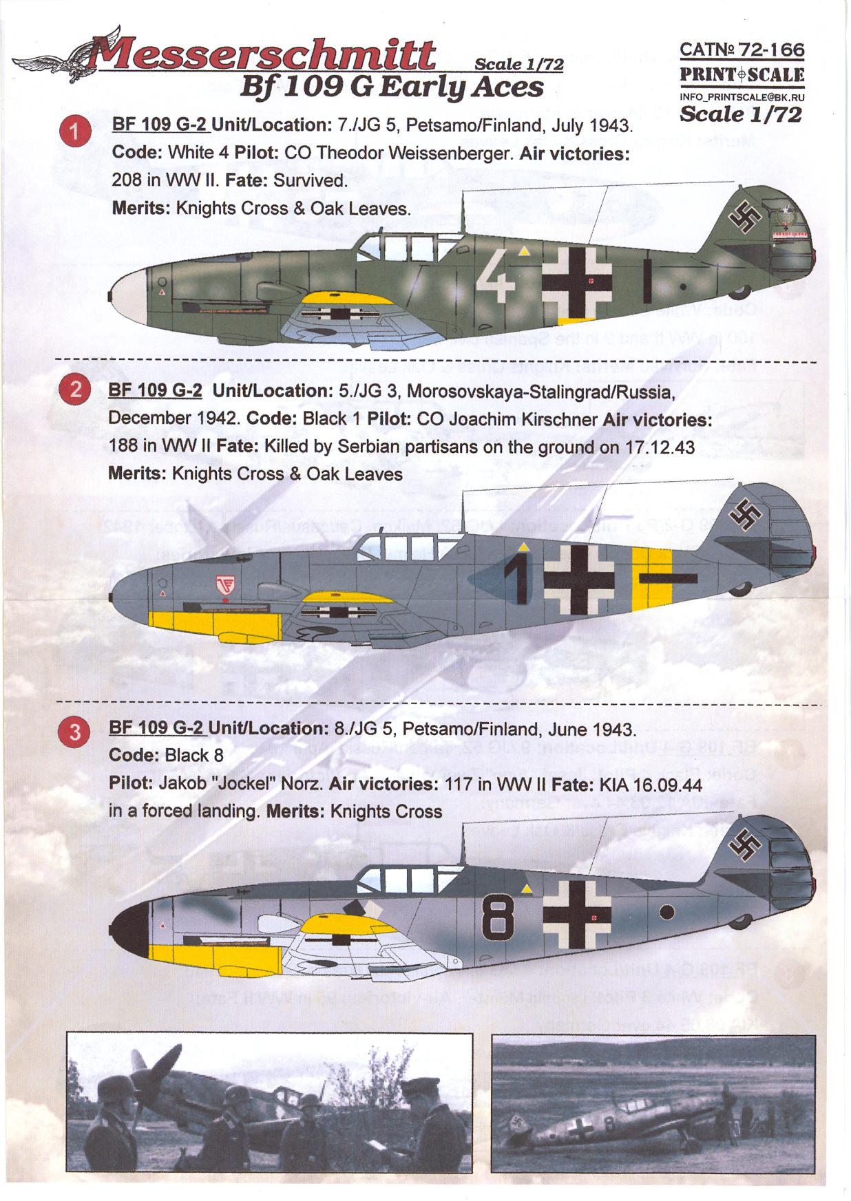 Print Scale Decals 1//72 MESSERSCHMITT Bf-109D German WWII Fighter