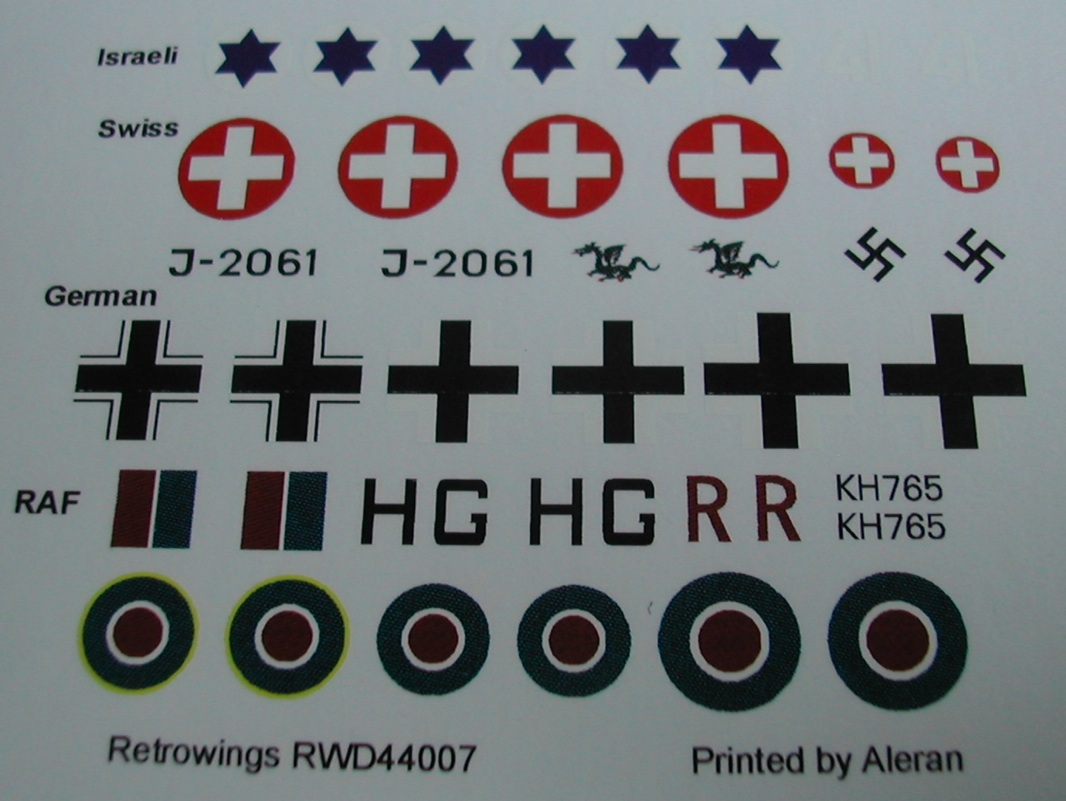 RetroKits Models Decals 1//144 P-51 MUSTANG FIGHTERS IN FOREIGN LANDS