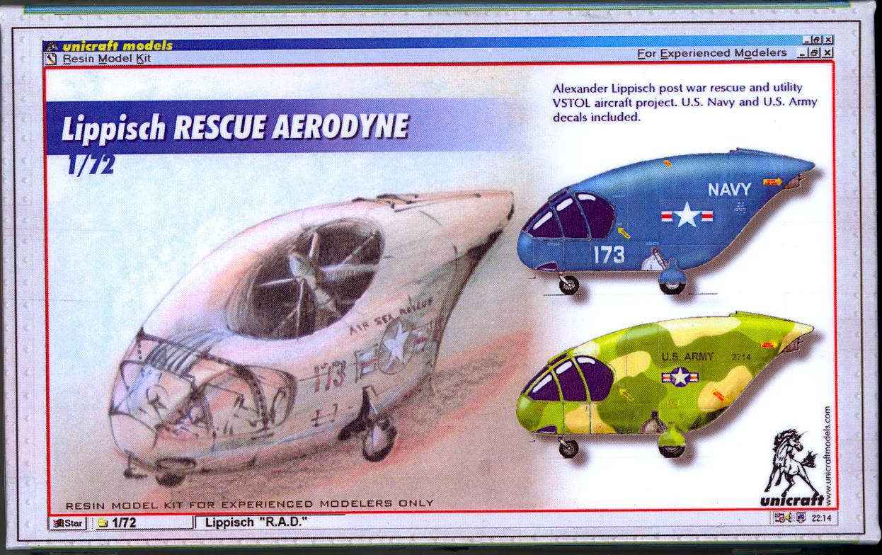 unicraft models 1 72 lippisch rescue aerodyne vstol project ebay