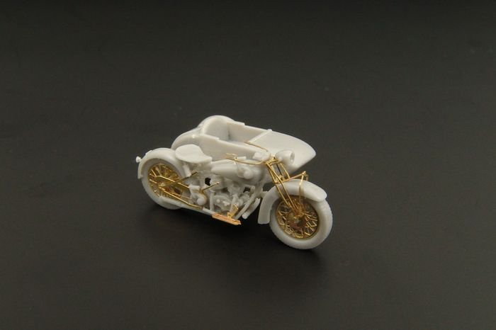 Hauler Models 1//87 INDIAN CHIEF MOTORCYCLE WITH SIDECAR Resin and Photo Etch Kit