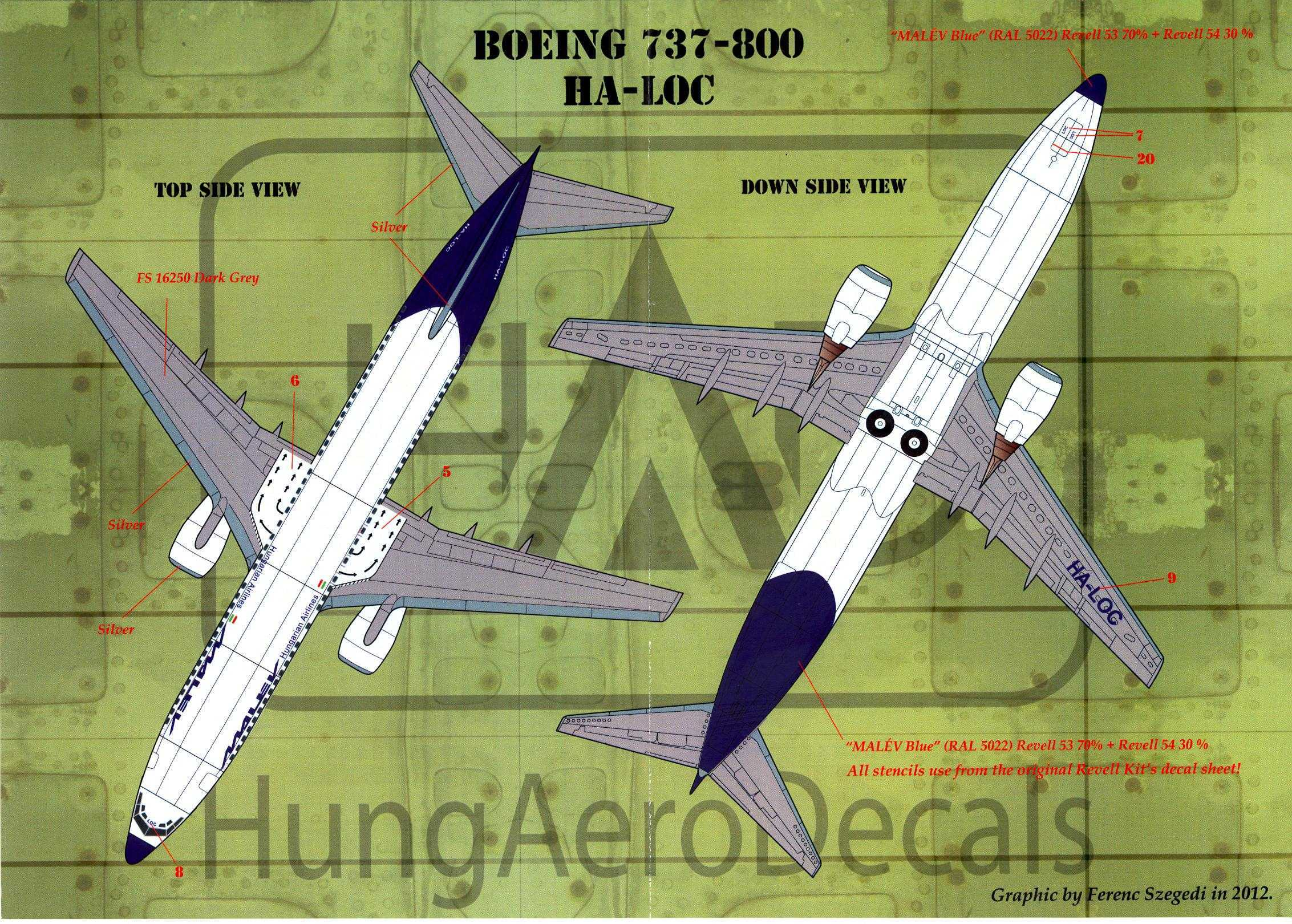 Hungarian Aero Decals 1//144 BOEING 737-200 Malev Airlines