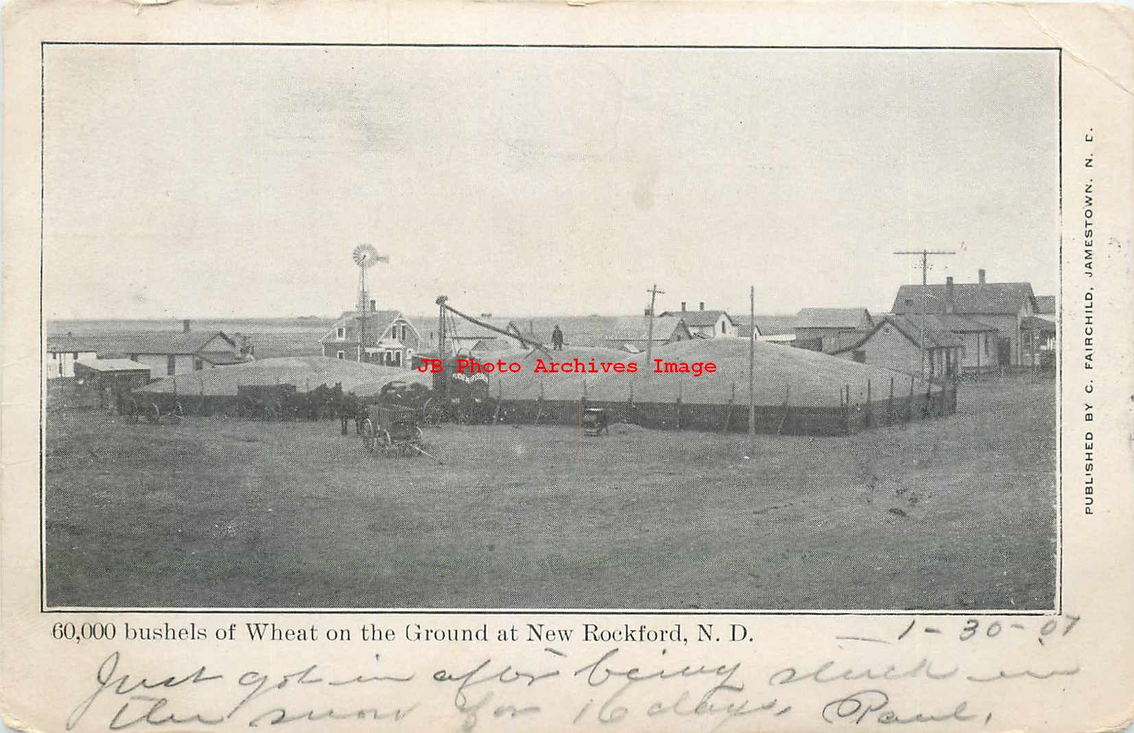 New Rockford Nd >> Details About Nd New Rockford North Dakota Farming Scene Wheat 1907 Pm C Fairchild Pub