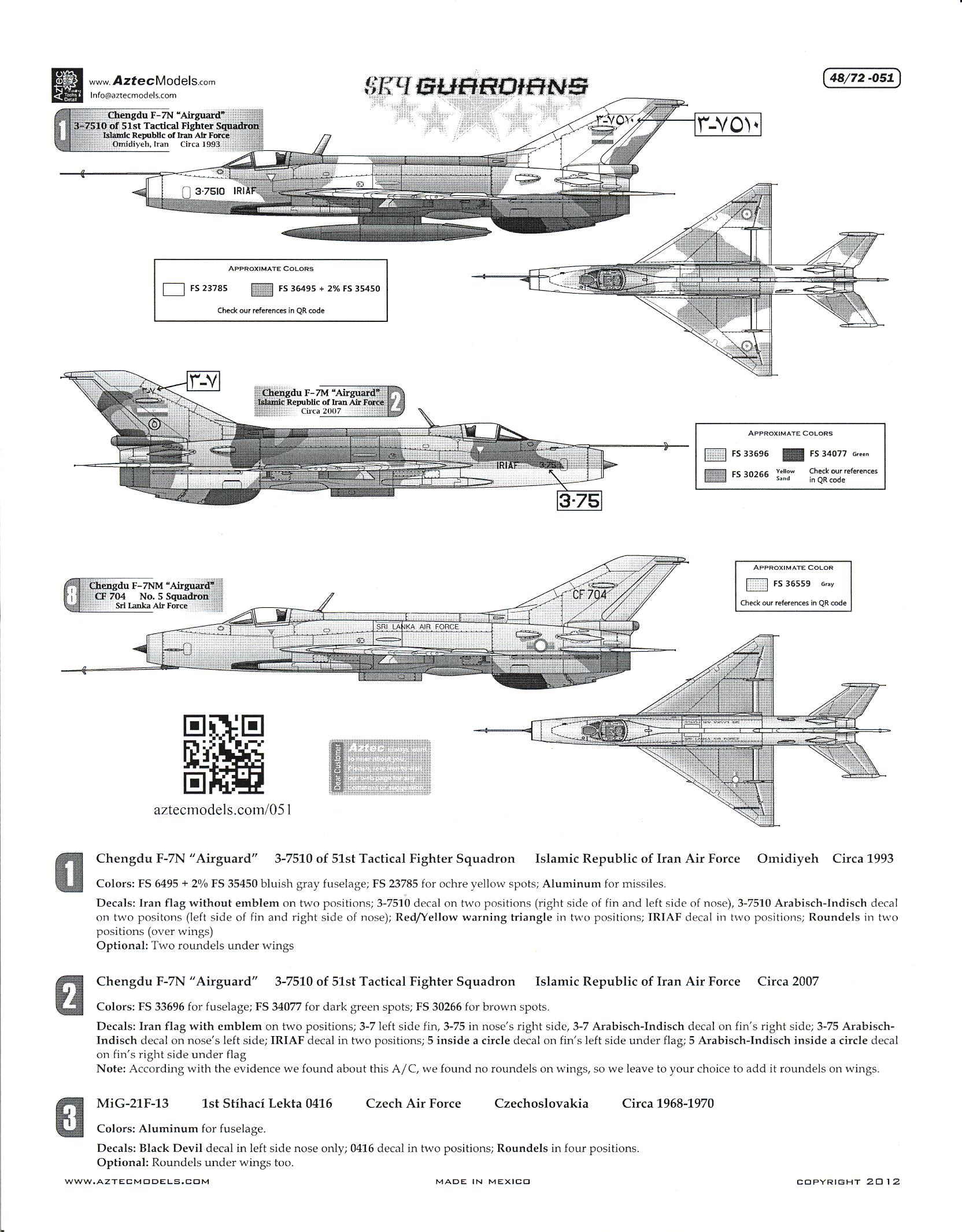 21 International Fashion Magazine You Ll Love: Aztec Decals 1/72 SKY GUARDIANS MIKOYAN MiG-21 In
