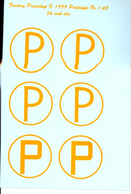 """Fantasy Printshop Decals 1/32 BRITISH YELLOW """"P"""" IN CIRCLE ...  Fantasy Printsh..."""