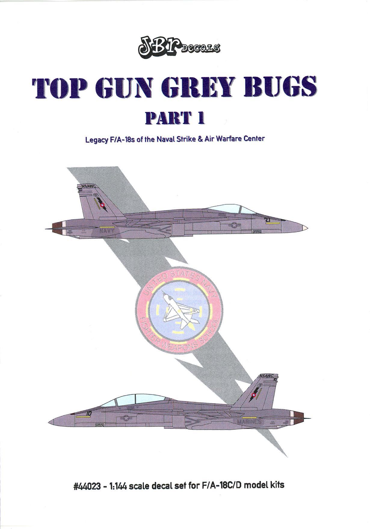 144 Best Images About Spa Decor On Pinterest: JBr Decals 1/144 TOP GUN GREY BUGS McDonnell Douglas F/A