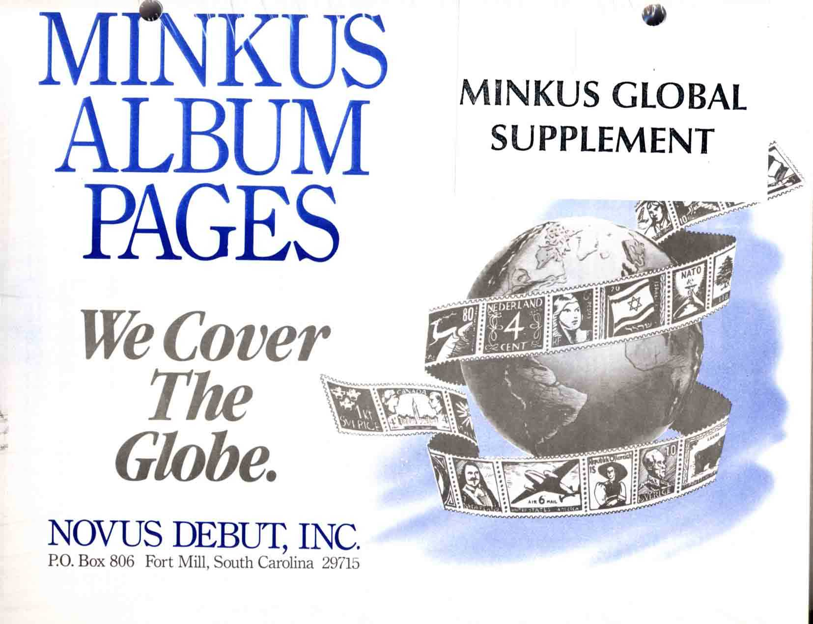 1987 MINKUS GLOBAL STAMP ALBUM SUPPLEMENT 612 pages!!!