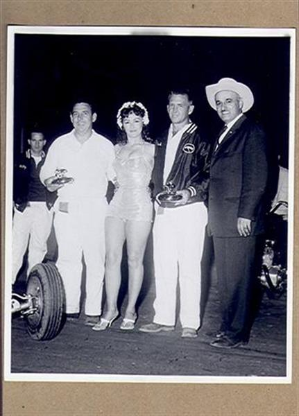 Autographs Auto Racing on Vintage Original Auto Racing Trophy Presentation Photo Ex Sku 22884