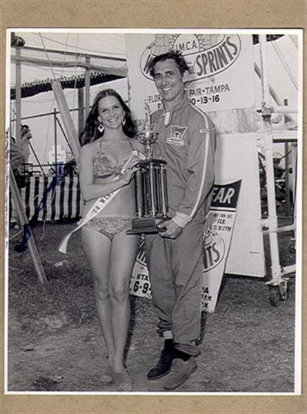 Auto Racing Vintage on Vintage Al Major Original Auto Racing Trophy Presentation Photo Ex Sku