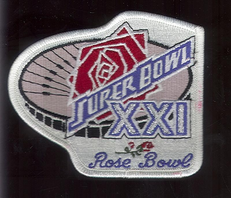 Super bowl xxi patch