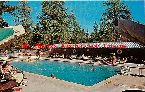 Ca big bear lake california henry 39 s cottages swimming pool dexter no 37160b ebay for Cottages in the lakes with swimming pools